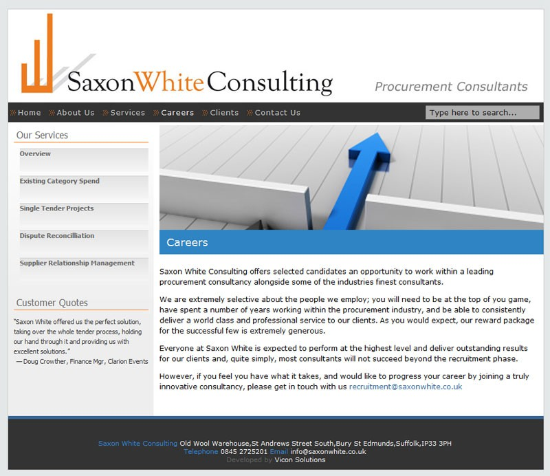 Saxonwhite Homepage