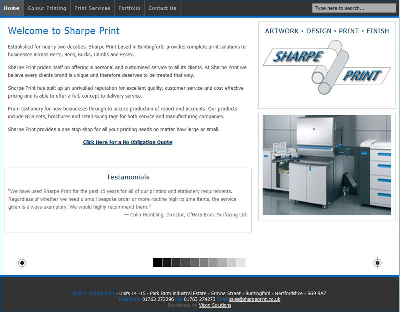 SharpePrint Website