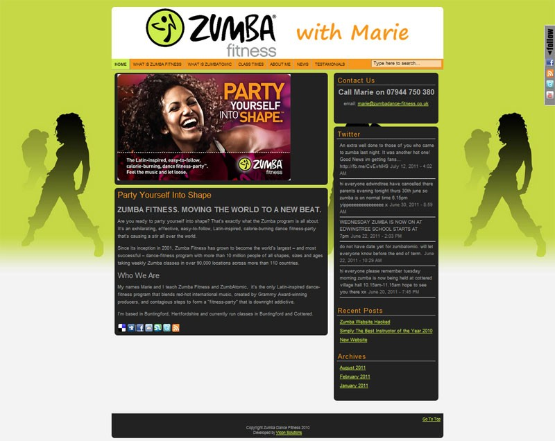 Zumba Dance Fitness Website