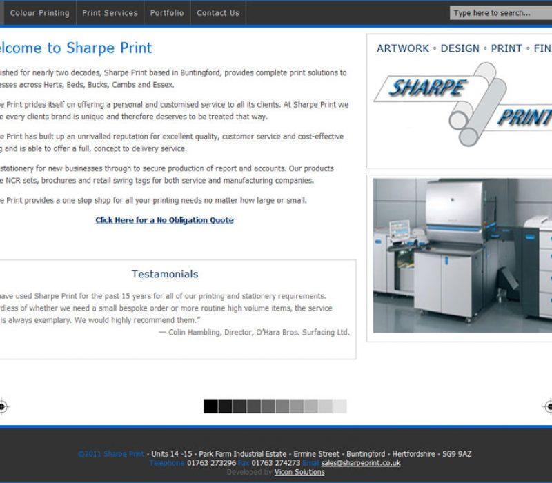 SharpePrint Website