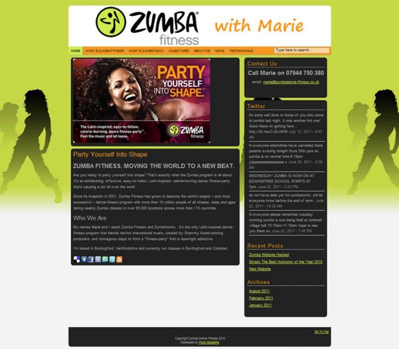 Zumba Dance Fitness Website